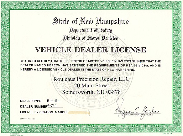 Florida Car Dealers Licence